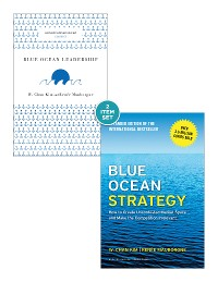 """Cover Blue Ocean Strategy with Harvard Business Review Classic Article """"Blue Ocean Leadership"""" (2 Books)"""