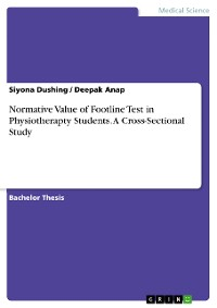 Cover Normative Value of Footline Test in Physiotherapty Students. A Cross-Sectional Study