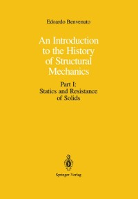 Cover Introduction to the History of Structural Mechanics