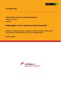 Cover Policy Paper on U.S. interests in the Persian Gulf