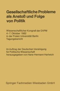 Cover Gesellschaftliche Probleme als Ansto und Folge von Politik