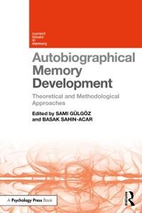 Cover Autobiographical Memory Development