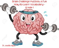 Cover Brain Challenge Puzzles: A Fun Way to Learn Vocabulary - Grade 1