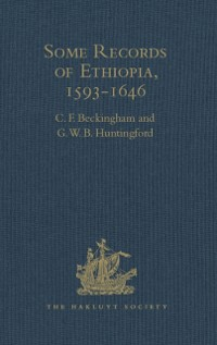 Cover Some Records of Ethiopia, 1593-1646