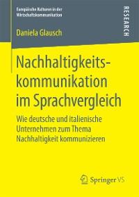 Cover Nachhaltigkeitskommunikation im Sprachvergleich