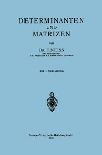 Cover Determinanten und Matrizen