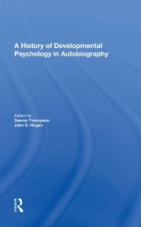Cover History Of Developmental Psychology In Autobiography