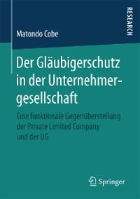 Cover Der Gläubigerschutz in der Unternehmergesellschaft