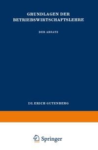 Cover Grundlagen der Betriebswirtschaftslehre