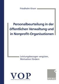 Cover Personalbeurteilung in der offentlichen Verwaltung und in Nonprofit-Organisationen