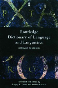 Cover Routledge Dictionary of Language and Linguistics