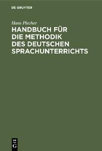 Cover Handbuch für die Methodik des deutschen Sprachunterrichts