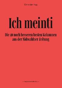 Cover Ich meinti II