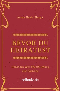 Cover Bevor du heiratest