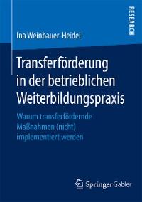Cover Transferförderung in der betrieblichen Weiterbildungspraxis