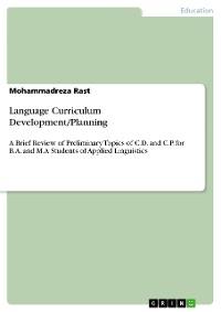 Cover Language Curriculum Development/Planning
