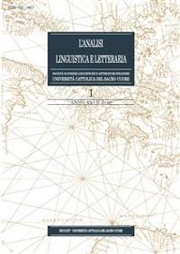 Cover L'Analisi Linguistica e Letteraria 2019-1