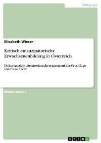 Cover Kritisch-emanzipatorische Erwachsenenbildung in Österreich
