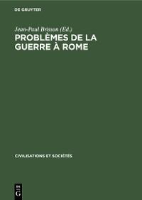 Cover Problèmes de la guerre à Rome