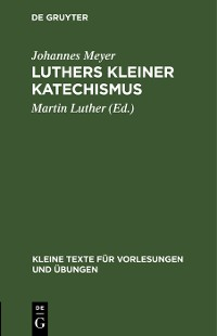 Cover Luthers kleiner Katechismus