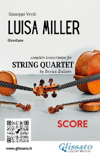 Cover Luisa Miller (overture) String Quartet - Score