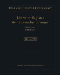 Cover Literatur-Register der Organischen Chemie