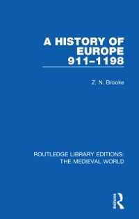 Cover History of Europe 911-1198