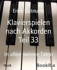 Cover Klavierspielen nach Akkorden Teil 33