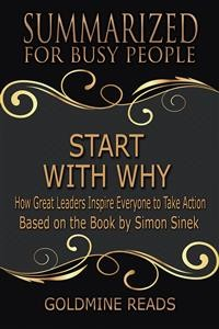 Cover Start With Why - Summarized for Busy People
