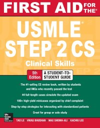 Cover First Aid for the USMLE Step 2 CS, Fifth Edition
