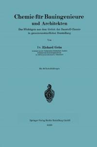 Cover Chemie fur Bauingenieure und Architekten