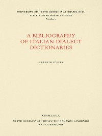 Cover A Bibliography of Italian Dialect Dictionaries