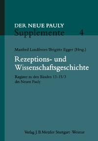 Cover Rezeptions- und Wissenschaftsgeschichte