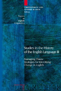 Cover Studies in the History of the English Language III