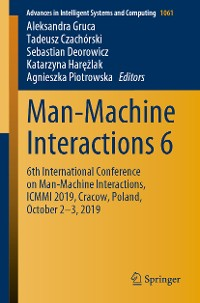 Cover Man-Machine Interactions 6