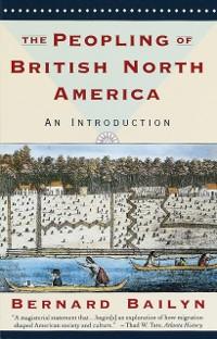 Cover Peopling of British North America