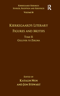 Cover Volume 16, Tome II: Kierkegaard's Literary Figures and Motifs
