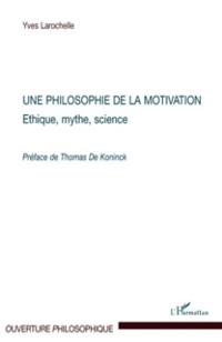 Cover Une philosophie de la motivation