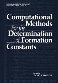 Cover Computational Methods for the Determination of Formation Constants