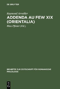 Cover Addenda au FEW XIX (Orientalia)