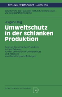 Cover Umweltschutz in der schlanken Produktion