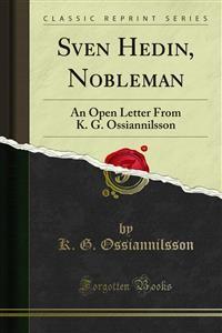 Cover Sven Hedin, Nobleman