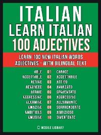Cover Italian - Learn Italian - 100 Adjectives