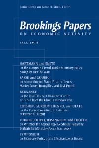 Cover Brookings Papers on Economic Activity: Fall 2018