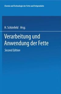 Cover Chemie und Technologie der Fette und Fettprodukte