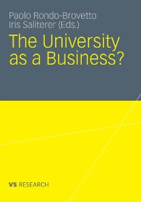 Cover The University as a Business
