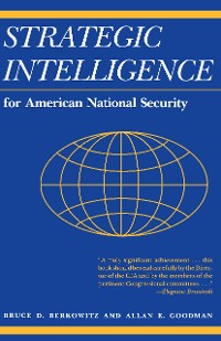 Cover Strategic Intelligence for American National Security
