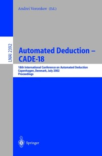 Cover Automated Deduction - CADE-18