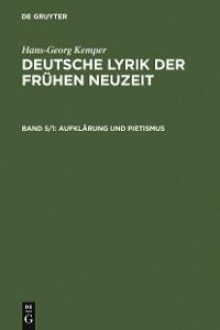 Cover Aufklärung und Pietismus