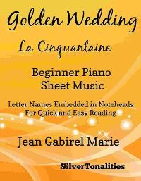 Cover Golden Wedding Beginner Piano Sheet Music